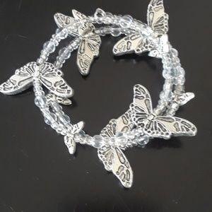 Cute butterfly wrap bracelet